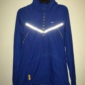 Nike LIVESTRONG 1/4 Zip Pullover Windbreaker WMN S